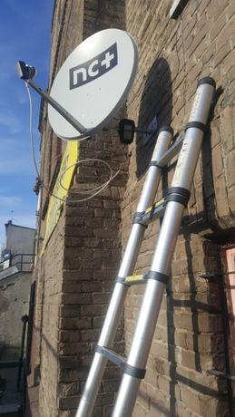 Montaż, regulacja, ustawienie anten SAT i DVB-T. Strojenie telewizorów