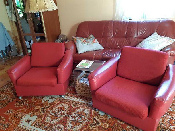 Sofa 3 osobowa trzyosobowa 3-ka i fotele NRD