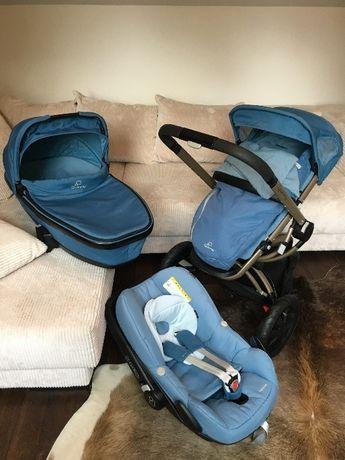 Коляска 2 в 1 Quinny Buzz blue Charm + зимний конверт footmuff или 3в1