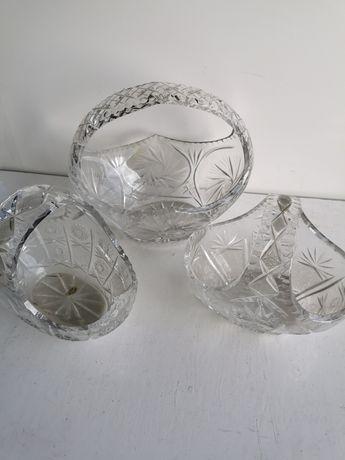 Kryształ koszyczki kryształowe 3szt