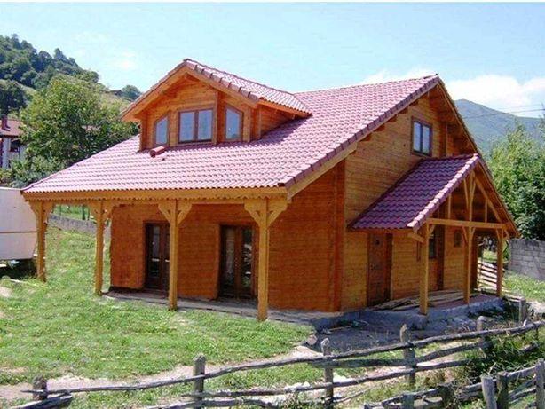 Casa de Madeira T.4 135 M2, Pré-fabricada Bungalow+2ªPAREDE+LÁ MINERAL