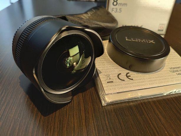 Obiektyw Panasonic Lumix G 8mm f/3.5 Fisheye