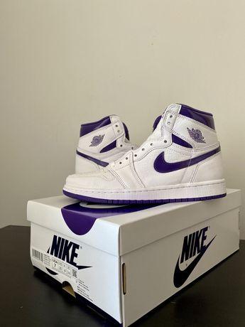 Nike air jordan court purple high