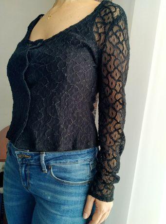 Кружевна блуза кофта на гудзики розмір S/M