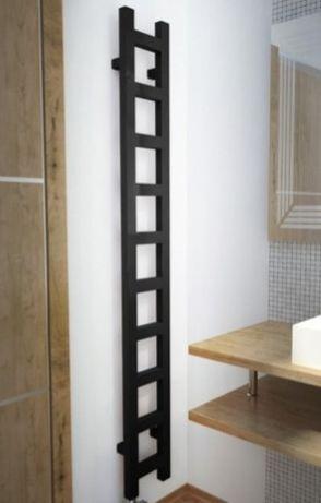 Terma Easy grzejnik elektryczny łazienkowy czarny 1920x200 grzałka MOA