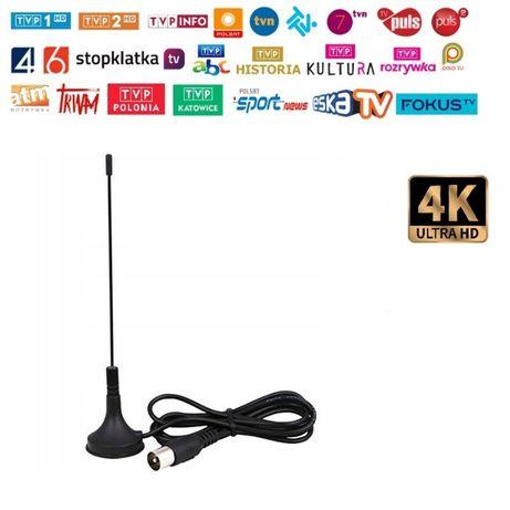 Antena HDTV wewnętrzna wiele kanałów 4K