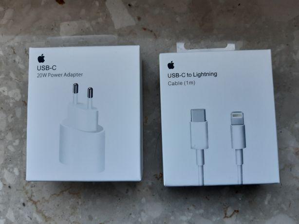 Ładowarka 20W Power Adapter i Kabel USB-C do iPhone NOWE
