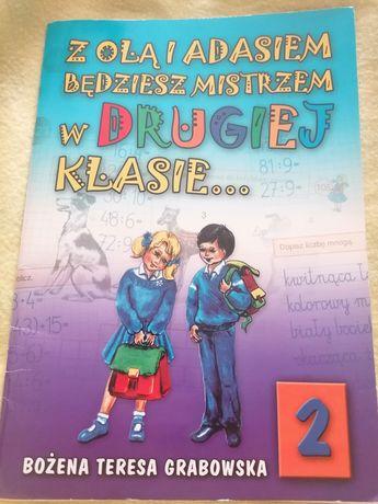 """Książka dla dzieci """"Z Olą i Adasiem będziesz mistrzem w drugiej klasie"""