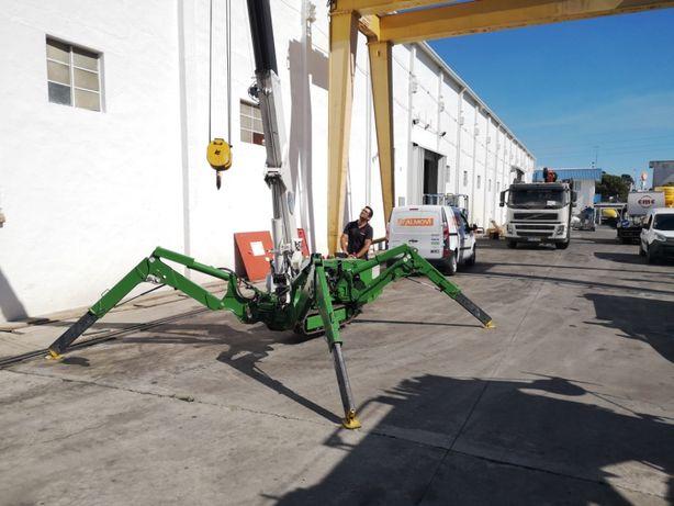Mini grua aranha UNIC URW295 3 toneladas diesel + elétrica