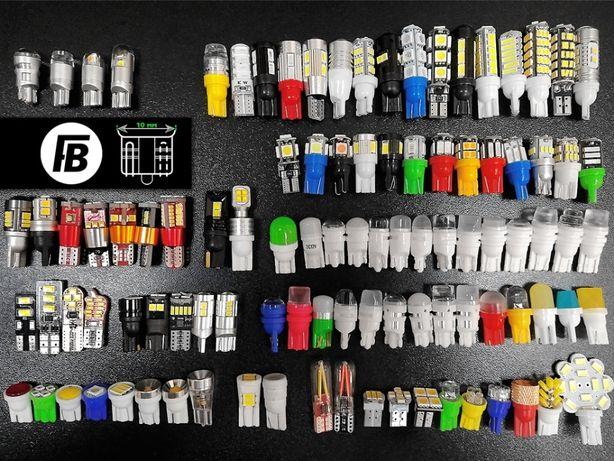 Лампы LED светодиодные T10 W5W габариты поворот диодные лампочки авто