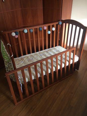 Детская кровать кроватка Veres Верес Соня ЛД 12 маятник матрас 60*120