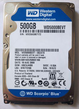 Жёсткий диск WD5000BEVT WD Scorpio Blue 500gb