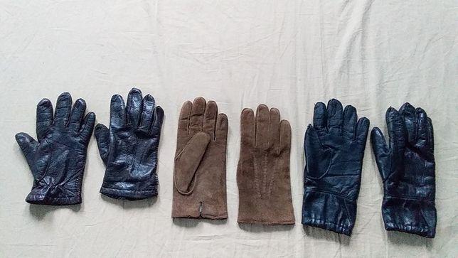 Перчатки мужские деми, зима-кожа натуральная-Ravel