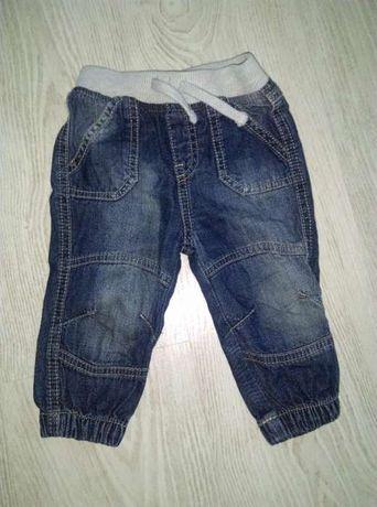 Joggersy spodnie chłopięce jeans F&F rozmiar 74 san bdb na gumce