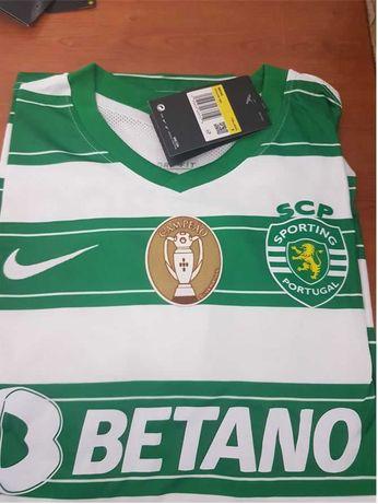 T-shirt Principal Sporting CP com patch ( personalizo)