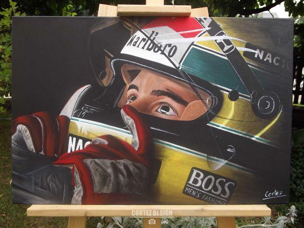 Obraz Ayrton Senna 40x60cm akryl