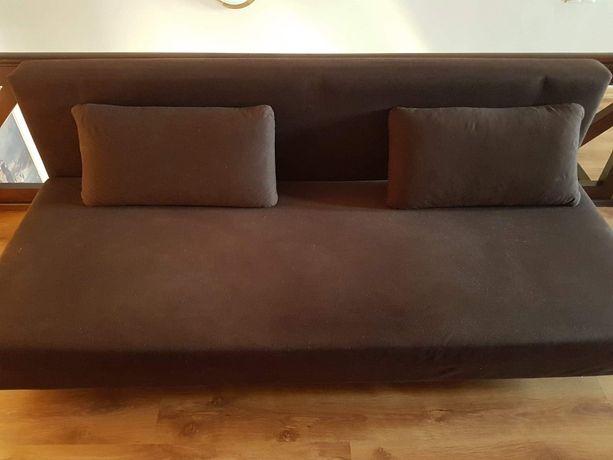 Łóżko sofa rozkladana brazowa idealny stan