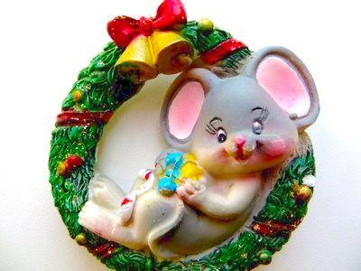 Магнит Мышонок, рождество, производство Франция