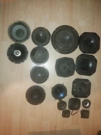 Mix głośników,blaupunkt, unitra, tonsil, axton. Około 100 szt. Sprawn