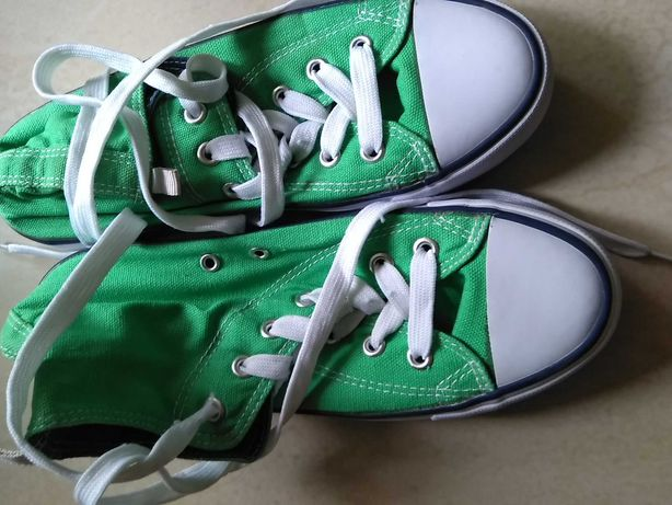 Zielone trampki, wysokie