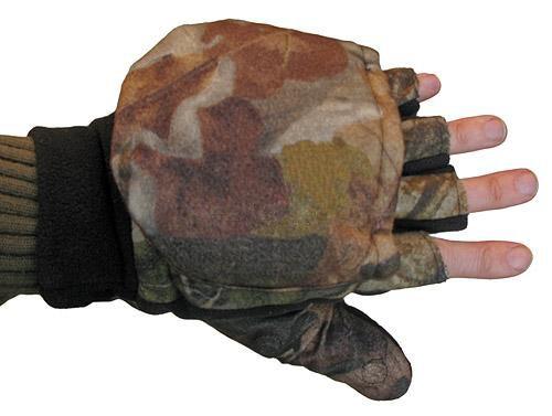 Перчатки тёплые флисовые с откидными пальцами