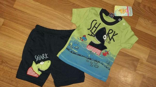Комплект р.68-80 футболка и шорты - 750 руб. Турция