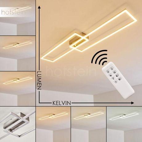Lampa LED 43W INIGO zmiana barwy pilot ściemniacz do salonu prostokąty