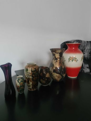 Wazony ozdobne, porcelanowe, szklane, mozaika