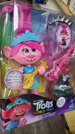 Hasbro Тролли. Розочка Большая музыкальная кукла Поп и Рок. Оригинал