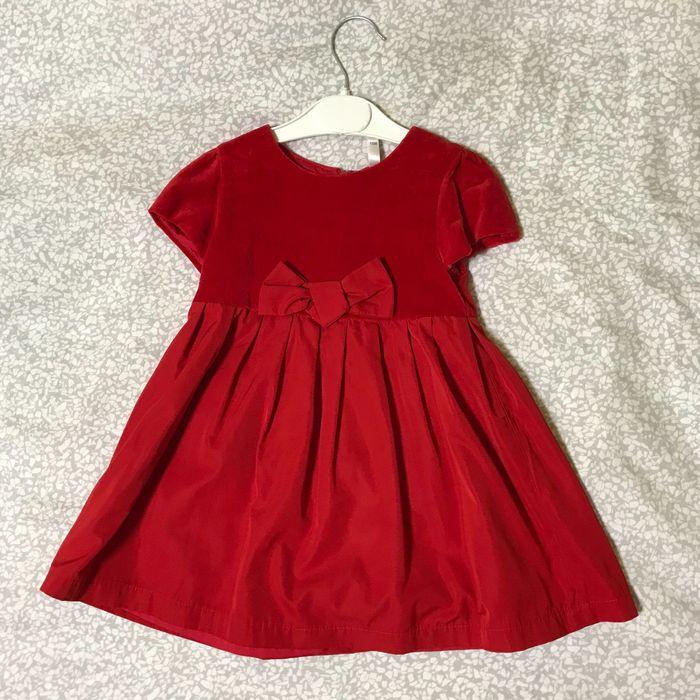 Детское красное платье, сарафан на девочку 1,5 года, размер 86-92 Одесса - изображение 1