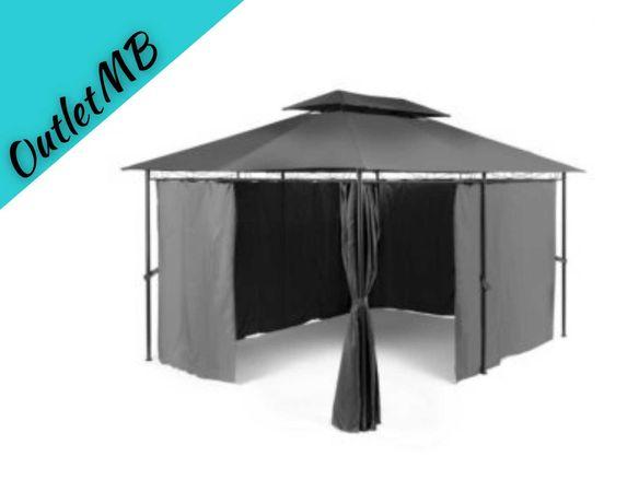 Pawilon ogrodowy altana namiot zadaszenie DUŻY 4x3 szary 281001