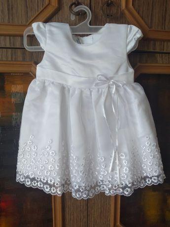Biała sukienka, chrzciny roz 62