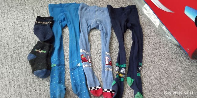 3 шт.колготок,детские колготы  и 2 носков ,92 см на 2-3 г,цена за всё
