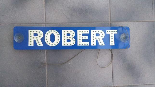 Tablica imienna Robert podświetlana na przyssawki