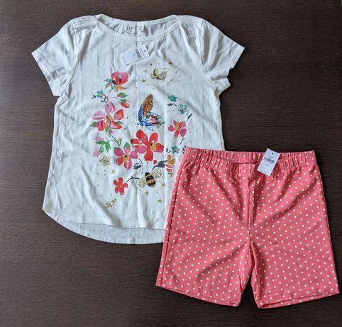 Набор gap футболка и шорты Gap XL 12-13 лет майка шорти old navy zara