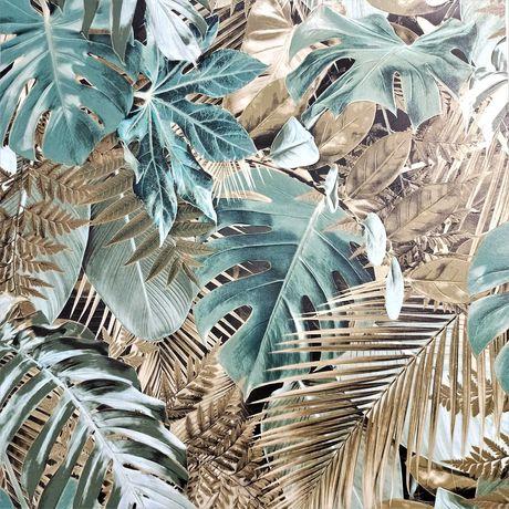 Tapeta na ścianę zielone liście monstera palmy
