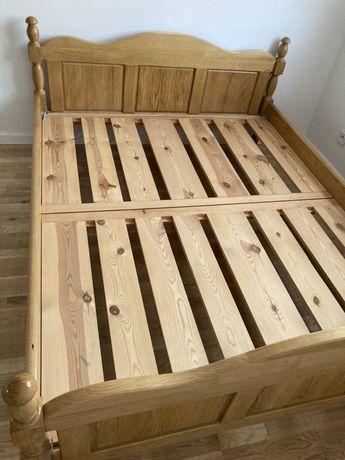Dębowa rama łóżka pod materac 160x200