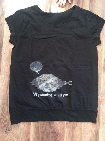 Bluzka tunika getry rybaczki ciążowe zestaw L