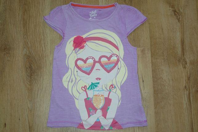 C&A Palomino liliowa bluzeczka z dziewczynką r.128