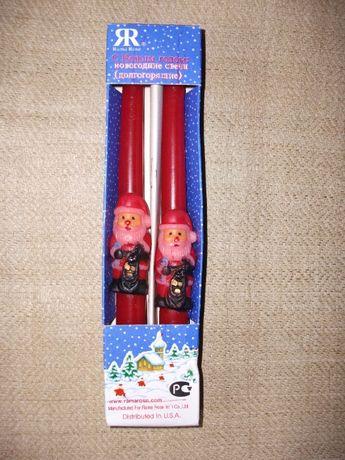 Новогодние рождественские свечи подарочный набор США Санта-Клаус новые