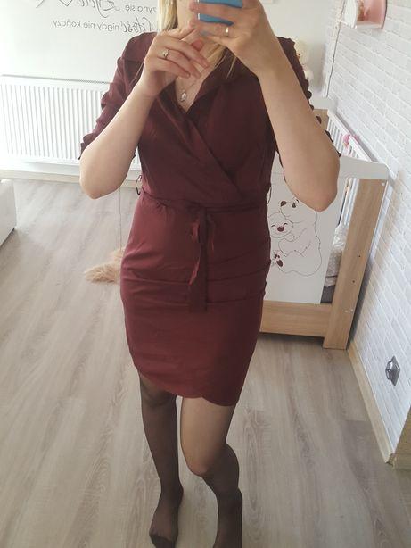 Bordowa sukienka rozmiar M