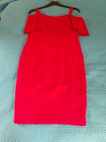 czerwona nowa sukieneczka