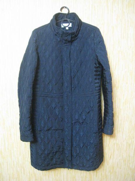 стильное женское теплое стеганое пальто. р.50 - UK14