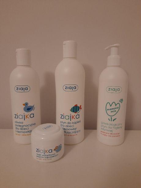 Kosmetyki dla niemowląt Ziajka (oliwka, płyn do kąpieli, maść poślad.)
