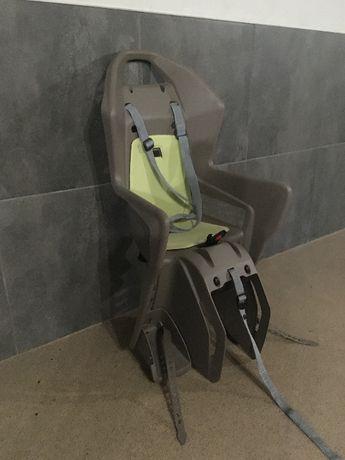 fotelik rowerowy na bagażnik + kask 48-52 cm