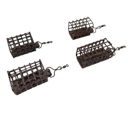 4 x koszyczek  zanętowy podajnik z krętlikiem 20-50g BROWN BRĄZOWY