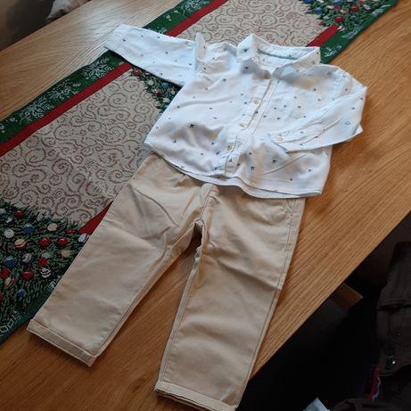 Zestaw dla chłopca Zara koszula i spodnie rozmiar 86 cm 12-18 miejscy