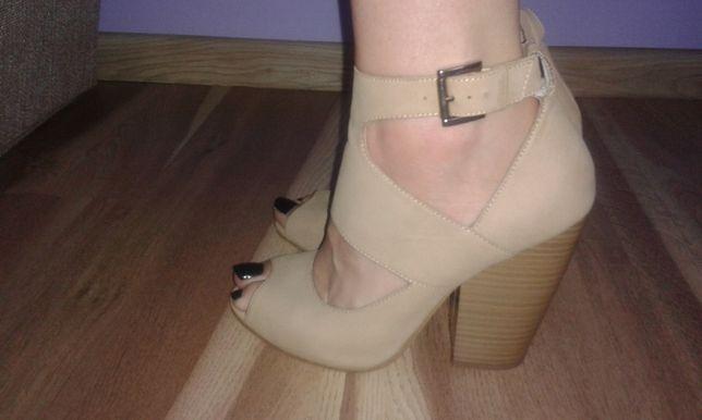 Skórzane sandały r. 38