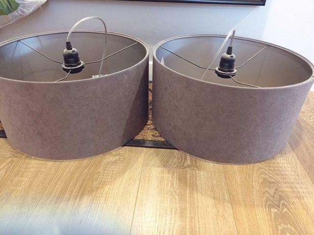 Komplet dwóch lamp wiszących - szara - regulowana