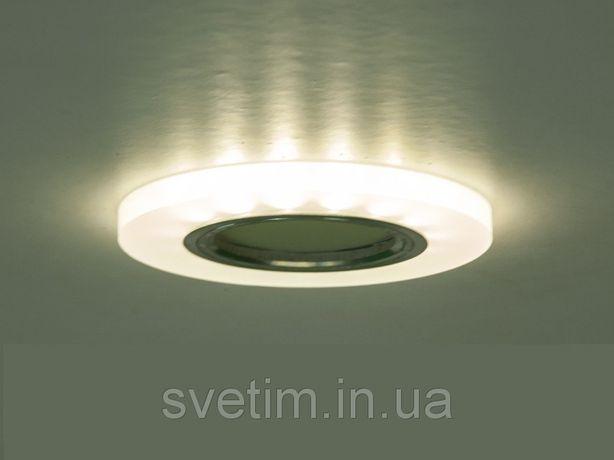 Точечные врезные светильники с лед подсветкой в натяжной и гипсовый п